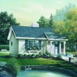 Planos de casa de madera de un solo nivel