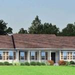 Planos de casa prefabricada de un solo nivel