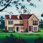 Planos de casa dúplex de dos niveles, cuatro dormitorios