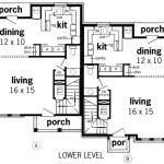 Planos de casa dúplex de dos niveles, cuatro dormitorios1