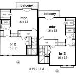 Planos de casa dúplex de dos niveles, cuatro dormitorios2
