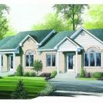 Planos de casa dúplex de un solo nivel, cuatro dormitorios