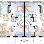 Planos de casa dúplex de un solo nivel, cuatro dormitorios1
