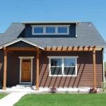 Planos de casa de madera de dos niveles,