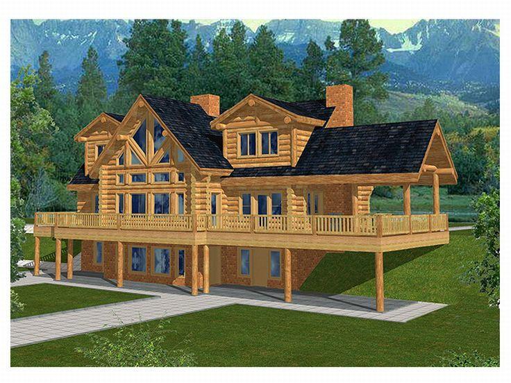 Planos de casa de madera de tres niveles
