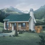 Planos de casa de madera de un solo nivel, con dos dormitorios
