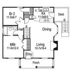 Planos de casa de madera de un solo nivel, con dos dormitorios1