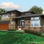 Planos de casa moderna de tres niveles