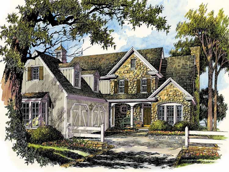 Planos de casa rural de dos niveles, tres dormitorios