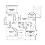 Planos de mansión de dos niveles, cuatro dormitorios, cuatro baños, un garaje2