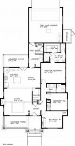 Planos de casas de una planta de 162 m2