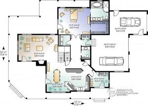 Casa de dos pisos con garaje