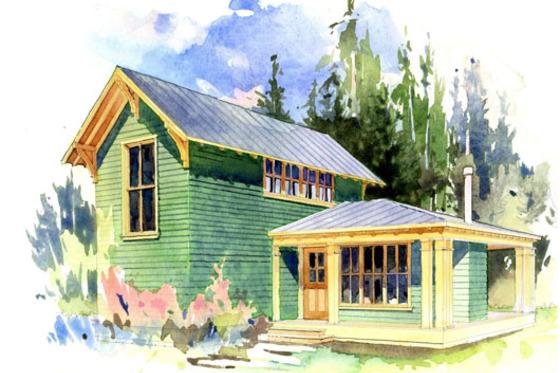 Planos De Casa Campestre De Dos Pisos Dos Habitaciones Y