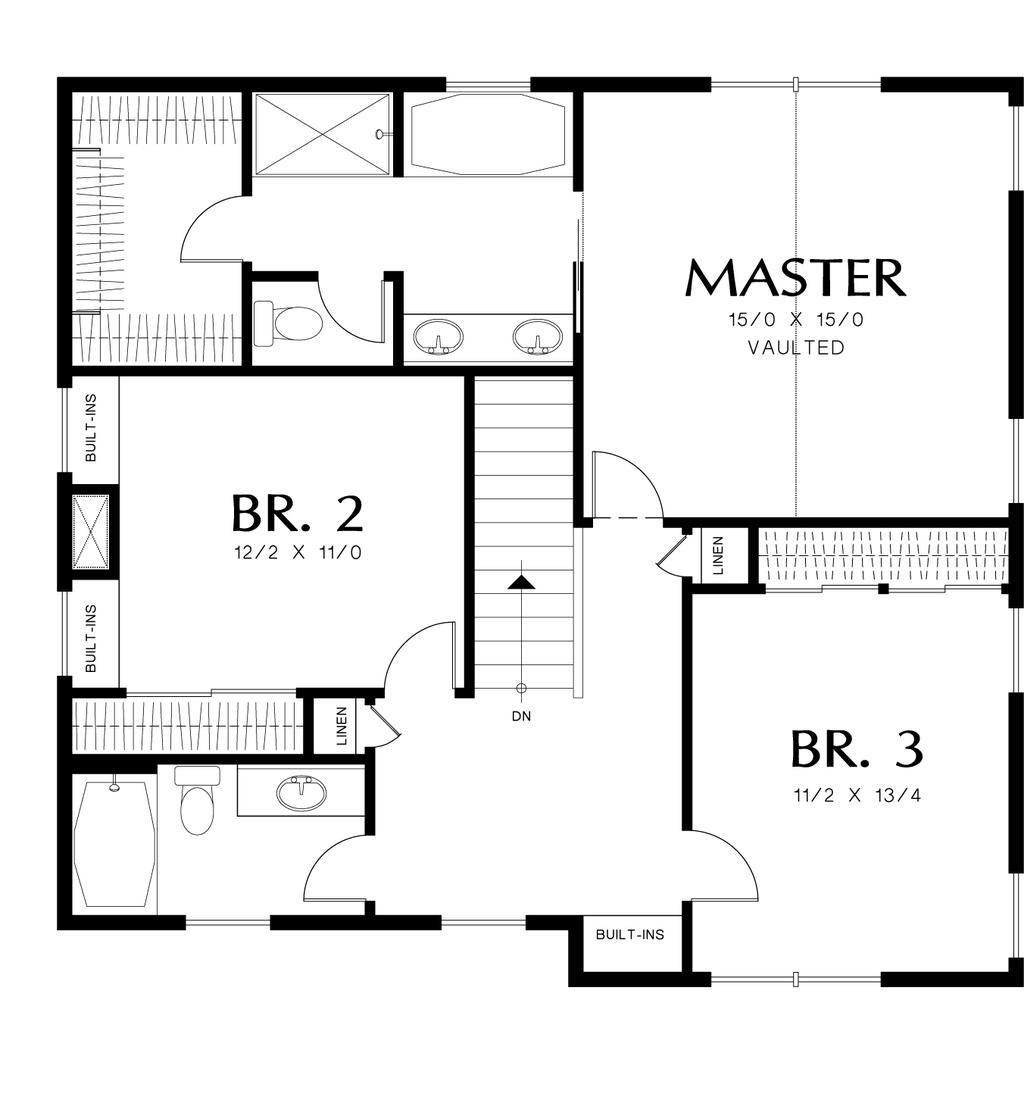 Planos de casa de dos pisos cuatro habitaciones y tres for Planos para segundo piso