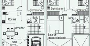 planos de casa de dos pisos para autocad