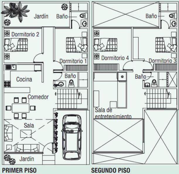 Planos De Casa De 120 Metros Cuadrados De Dos Pisos